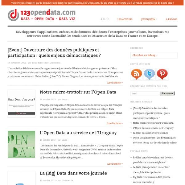 Le magazine de la Data : informations, initiatives, projets, applications et perspectives sur la Data en France et en Europe