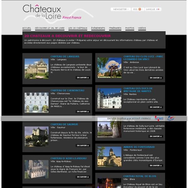 Les 19 châteaux de La Loire