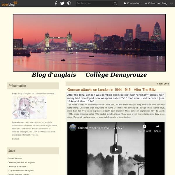 Le blog d'anglais du collège Denayrouze