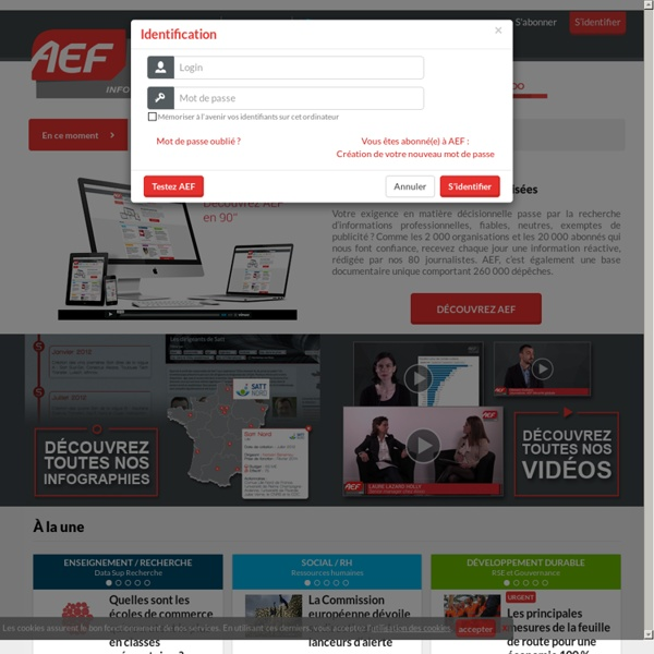 AEF, agence d'informations spécialisées