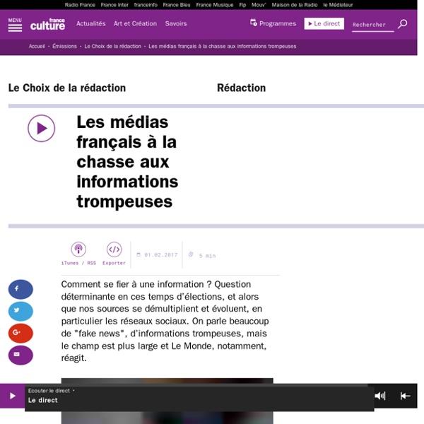 Les médias français à la chasse aux informations trompeuses