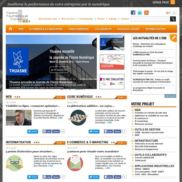 Ene, Conseil informatique, PME, Entreprises, Site Web, CRM, ERP, CAO, FAO, Simulation, Calcul, Usine Numérique