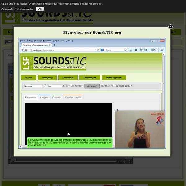 Formations informatique gratuites pour les sourds et malentendants - elearning sourdstic.org - SourdsTIC