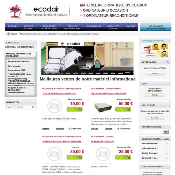 Matériel informatique d'occasion, ordinateur d'occasion, PC d'occasion, Imprimante d'occasion - Ecodair