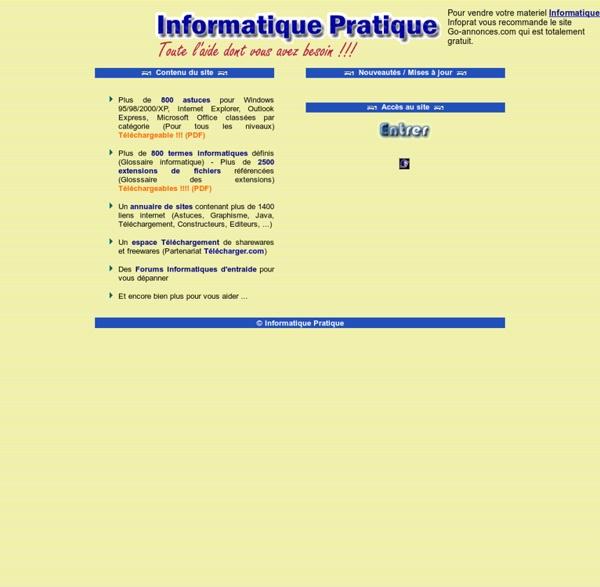Informatique Pratique