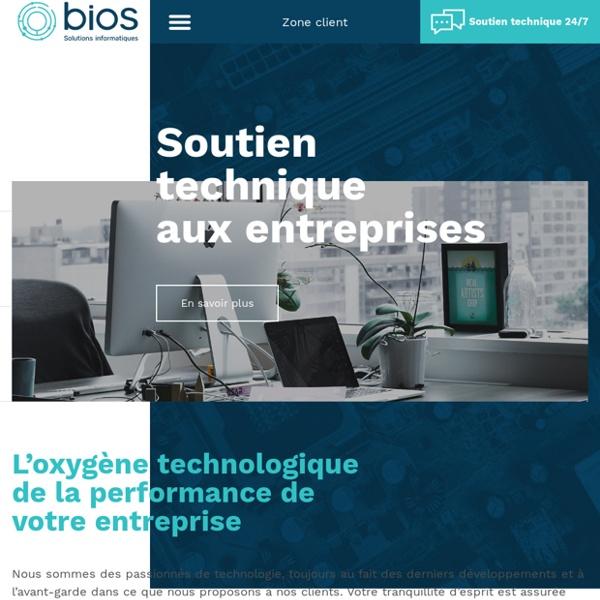 Bios: Entreprise informatique fournissant des solutions technologiques commerciales - Entreprise de Gatineau-Ottawa, Quebec, Canada
