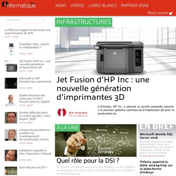 InformatiqueNews.fr - Actus, Dossier, Tendances informatique et télécoms
