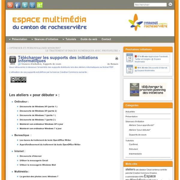 Télécharger les supports des initiations informatiques » Espace Multimédia du Canton de Rocheservière