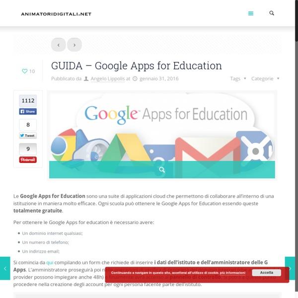 GUIDA - Google Apps for Education – Animatori Digitali - Portale di informazione degli ADAnimatori Digitali – Portale di informazione degli AD