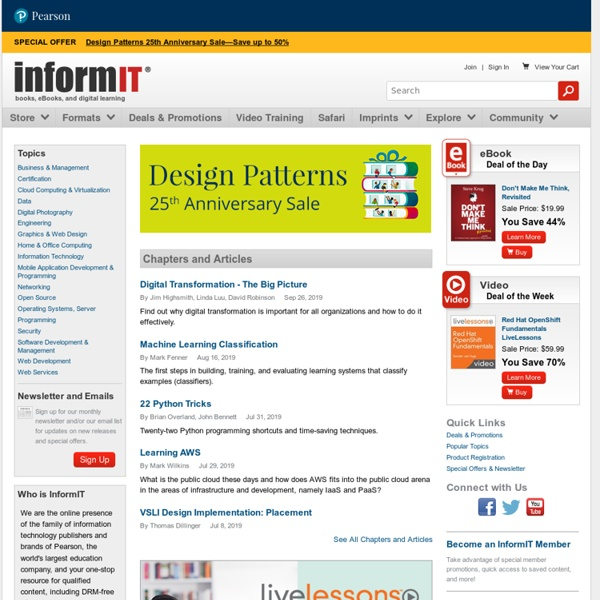 InformIT: The Trusted Technology Source for IT Pros and Developers
