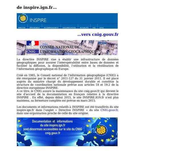Une infrastructure d'information géographique pour l'Europe