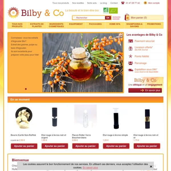 Bilby & Co ingrédients cosmétique naturels biologiques