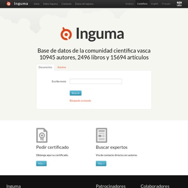 Inguma - Euskal komunitate zientifikoaren datu-basea