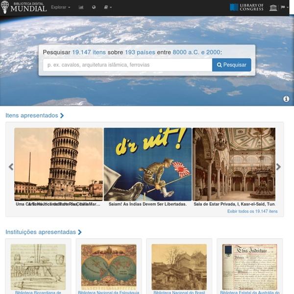 Página Inicial da Biblioteca Digital Mundial
