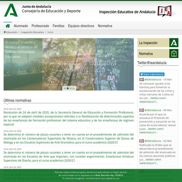 Servicios de inspección- Consejería de Educación
