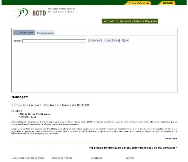 BDTD Biblioteca digital de teses e dissertações