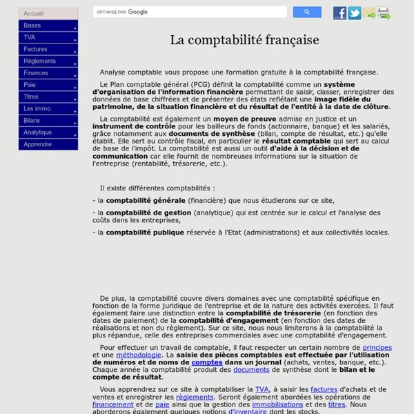 Initiation à la comptabilité française