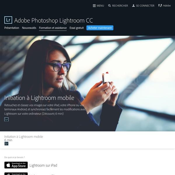 Didacticiels Adobe Photoshop Lightroom