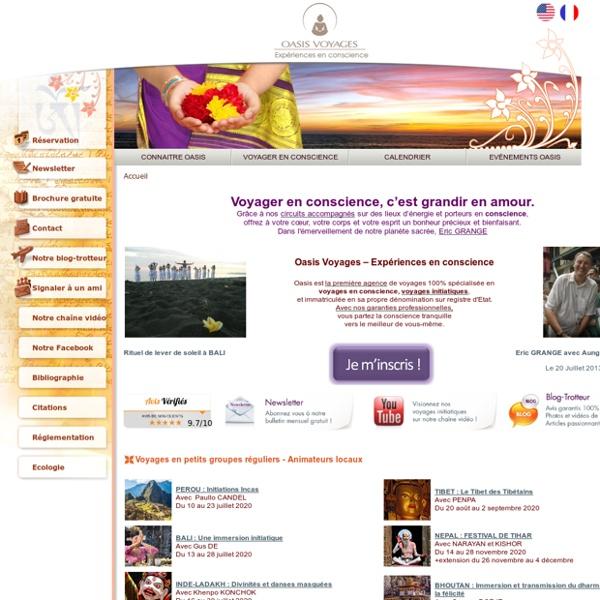 Voyage initiatique: Voyage en conscience et voyage spirituel avec Oasis Voyages