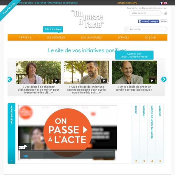 Le site de vos initiatives positives, journalisme positif
