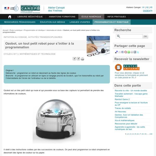 Ozobot, un tout petit robot pour s'initier à la programmation - L'Atelier Canopé 78 – Marly-le-Roi