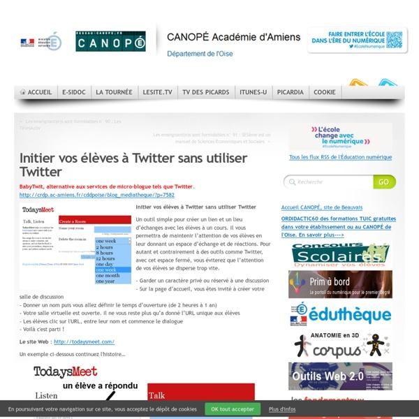 Initier vos élèves à Twitter sans utiliser Twitter