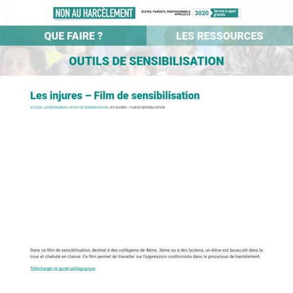 Les injures – Film de sensibilisation