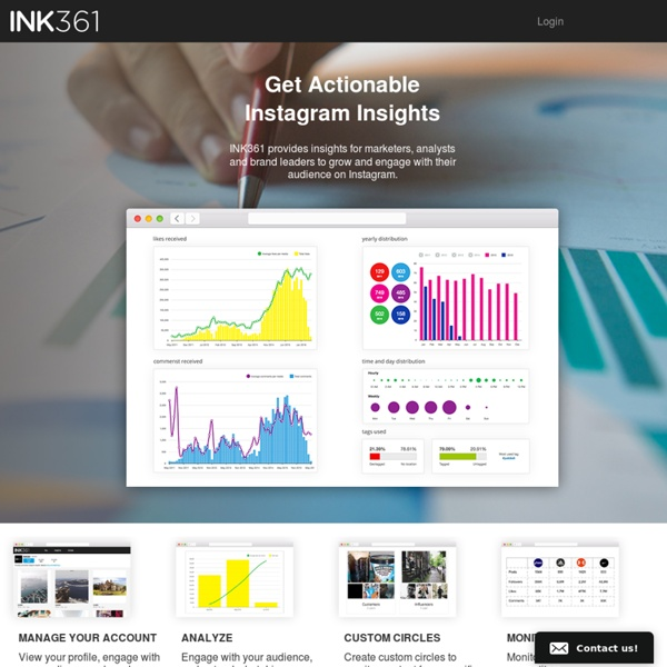 INK361 - A web interface for Instagram and so much more.