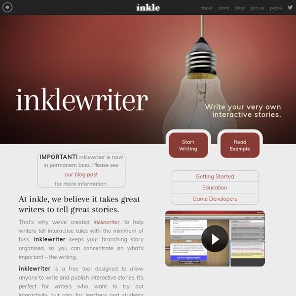 Inkle » inklewriter