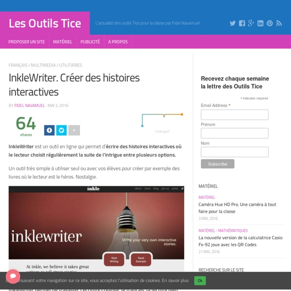 InkleWriter. Créer des histoires interactives – Les Outils Tice