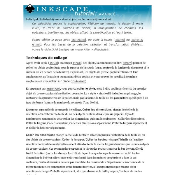 Inkscape : tutoriel avancé