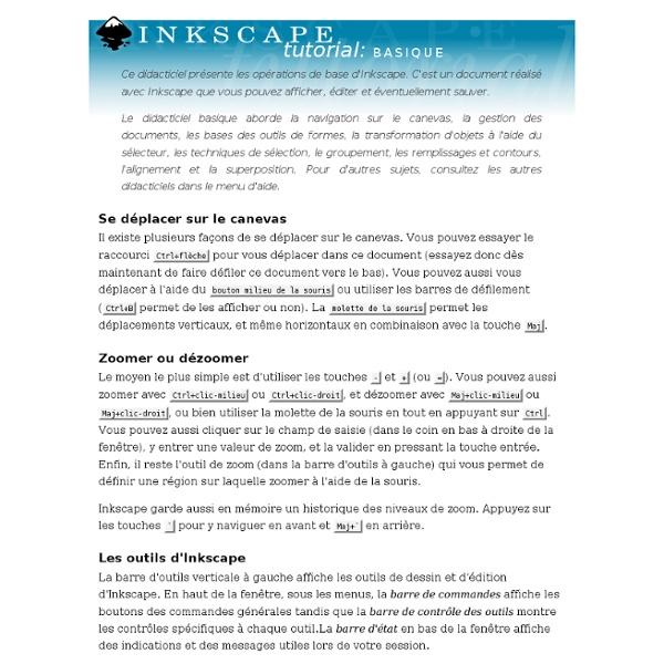 Inkscape : tutoriel basique