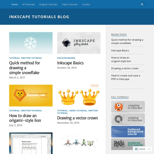 Inkscape Tutorials, News and Resources