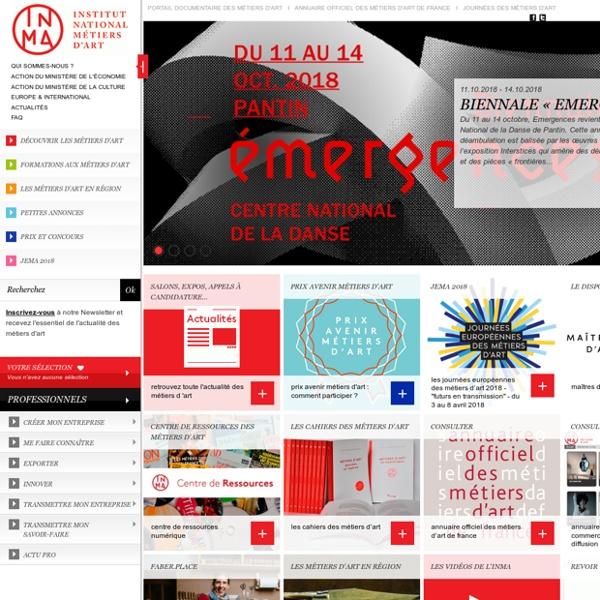INMA : Institut National des Métiers d'Art (ex SEMA)