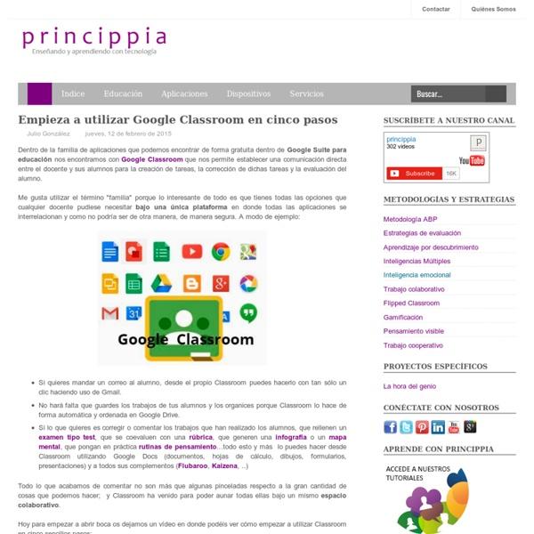 Empieza a utilizar Google Classroom en cinco pasos