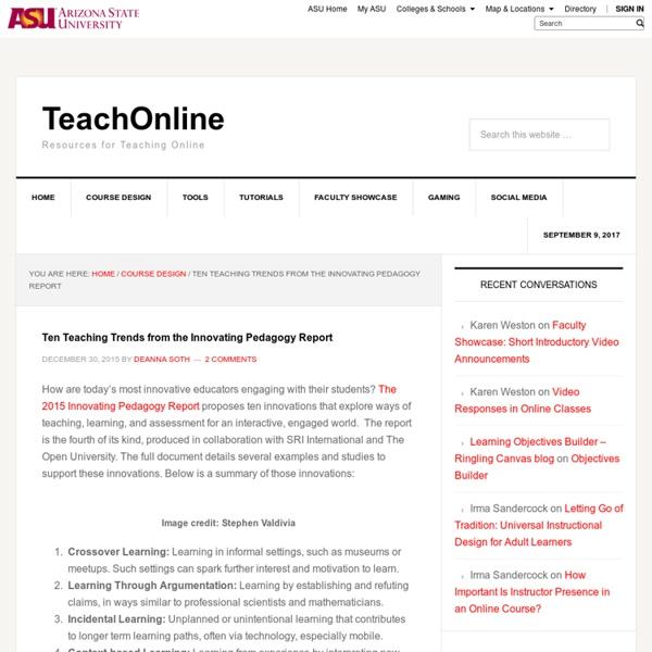 Ten Teaching Trends from the Innovating Pedagogy Report - TeachOnline