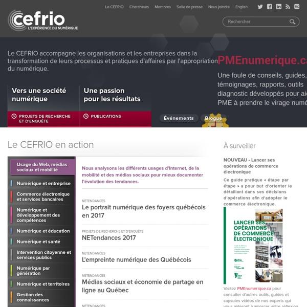 CEFRIO - L'expérience du numérique