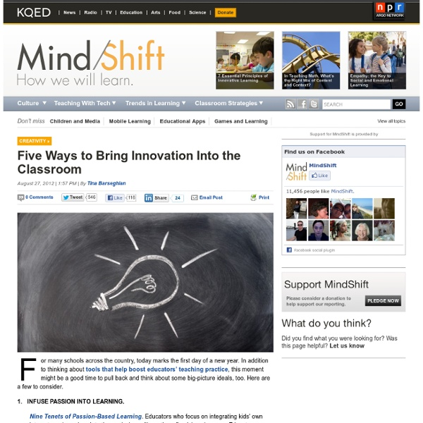 Five Ways to Bring Innovation Into the Classroom