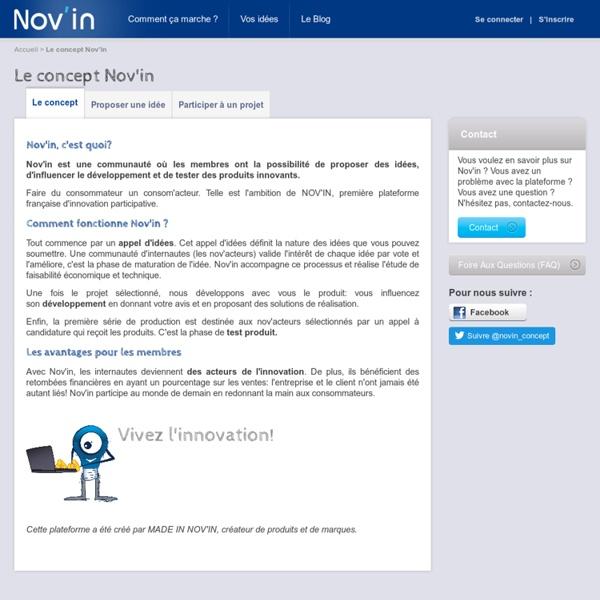 Faire connaitre son innovation produit sur le site collaboratif Nov'In