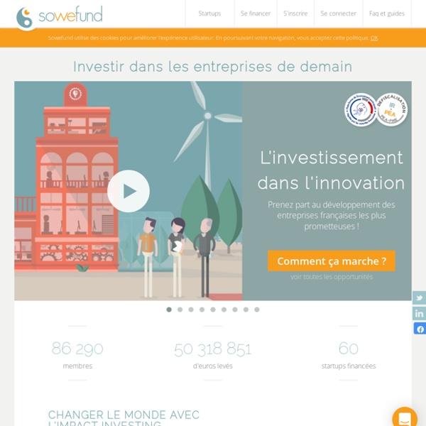 Sowefund - Investir dans l'innovation, défiscaliser utile