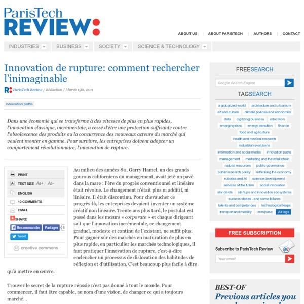 Innovation de rupture: comment rechercher l'inimaginable