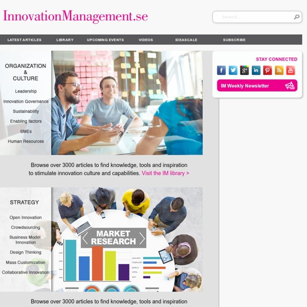 The number one online magazine for innovation management practioners