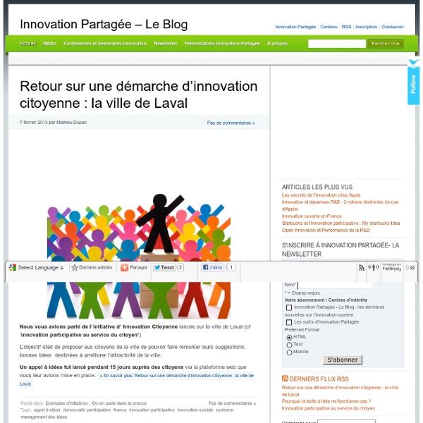 Innovation Partagée – Le Blog