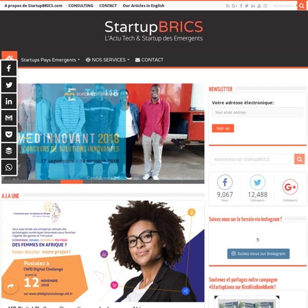 StartupBRICS - Le 1er Blog en français 100% dédié à l'Actu Tech et Startup des Emergents