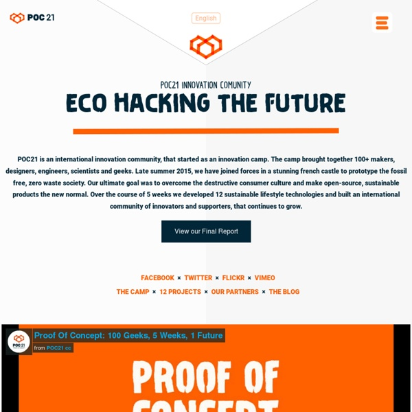 POC21 is an innovation camp for open source sustainability in 2015.