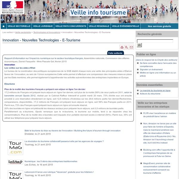 Innovation - Nouvelles Technologies - E-Tourisme