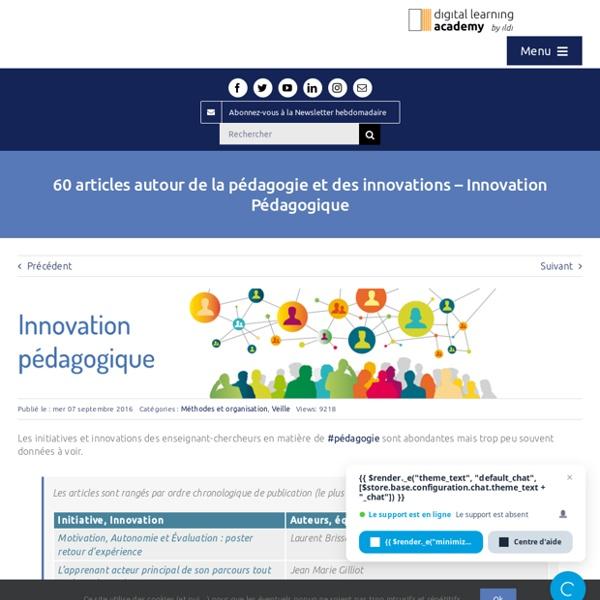 60 articles autour de la pédagogie et des innovations - Innovation Pédagogique