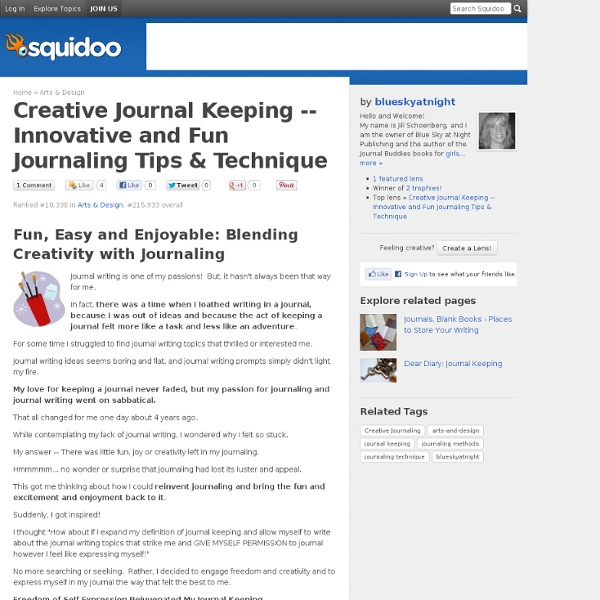 Innovative and Fun Journaling Tips & Technique
