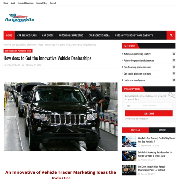 How does to Get the Innovative Vehicle Dealerships