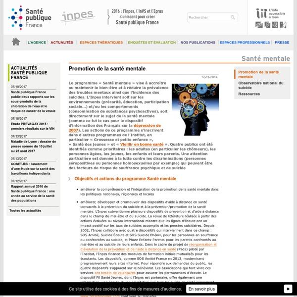 INPES - Promotion de la santé mentale